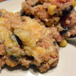 Quinoa Enchilada Casserole #MeatlessMonday