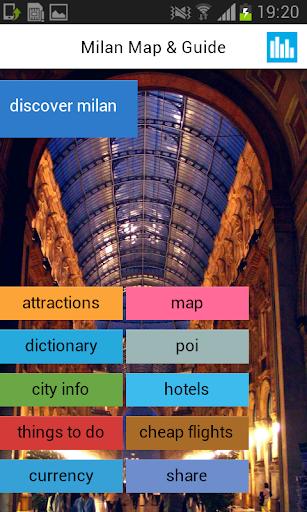 米兰离线地图饭店