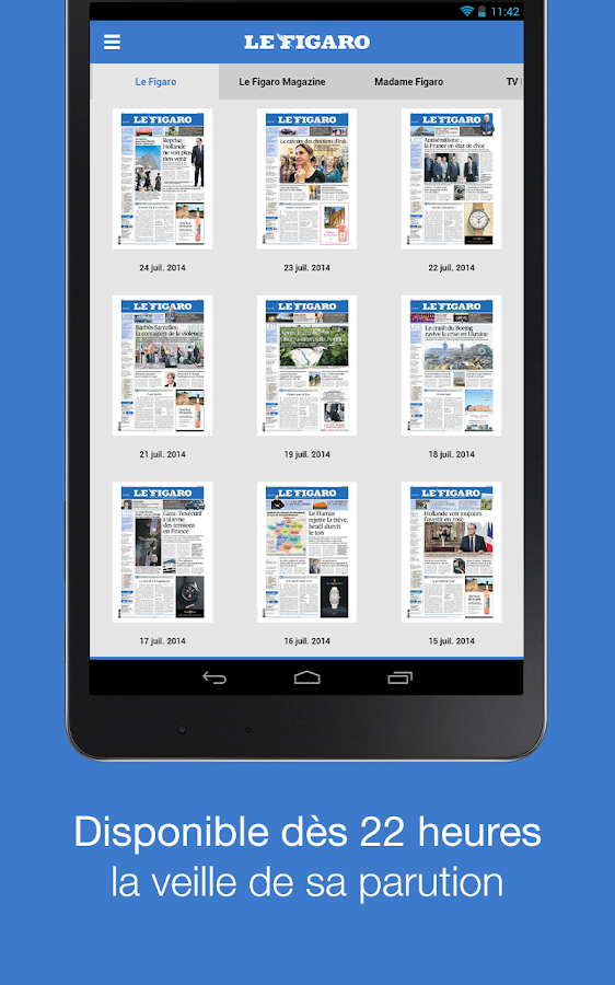 le figaro journal magazines applications android sur google play. Black Bedroom Furniture Sets. Home Design Ideas