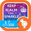 Keep Calm Sparkle GO SMS Theme icon