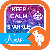 Keep Calm Sparkle GO SMS Theme