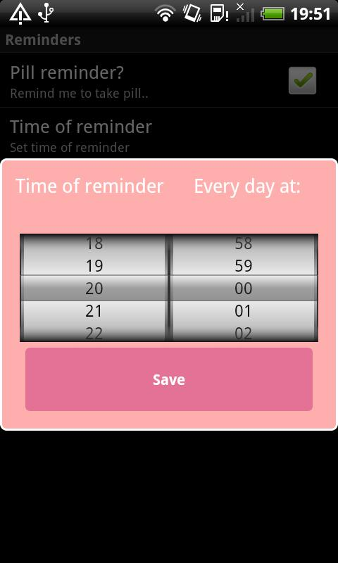 Menstrual Calendar - screenshot