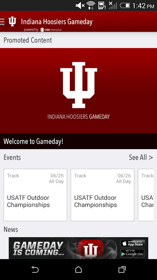 Indiana Hoosiers Gameday LIVE - screenshot