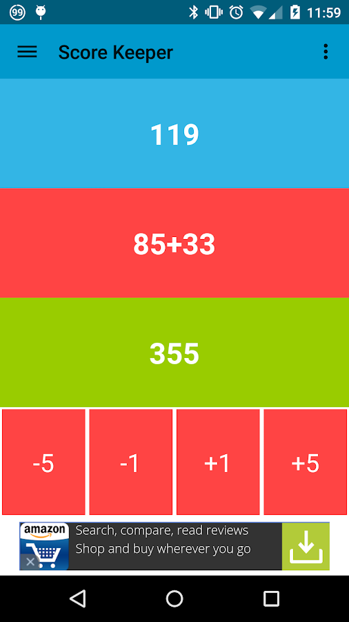 Score Keeper for Android Wear- screenshot