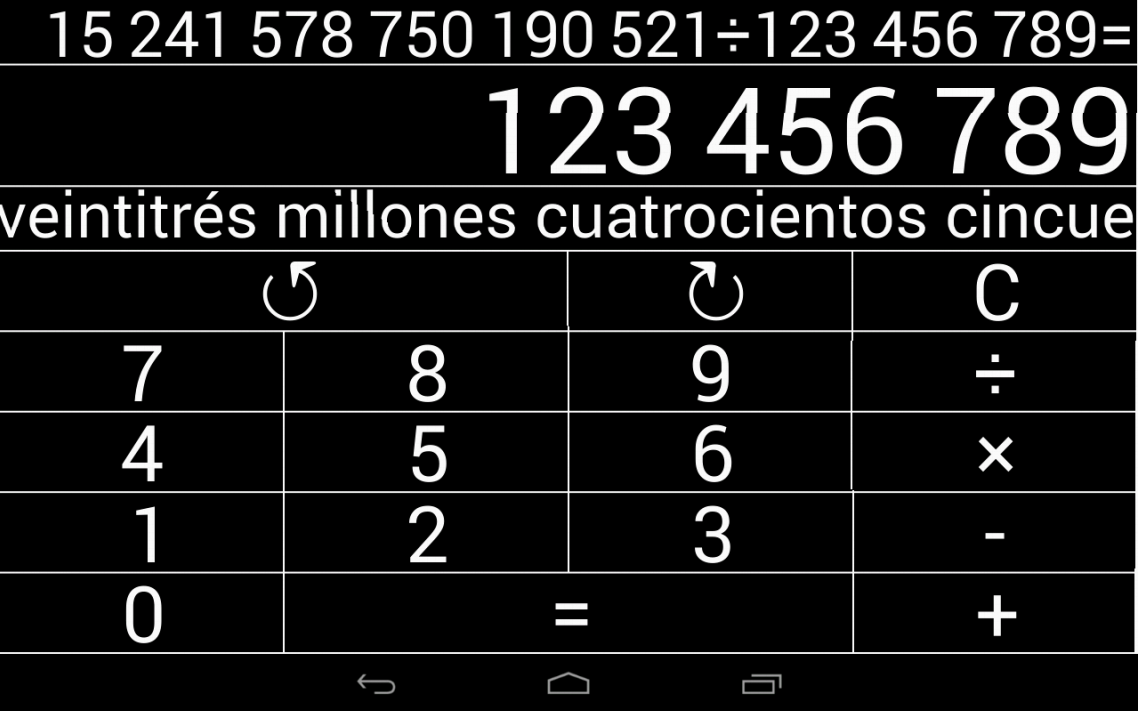 Calculadora Natural (LS)- screenshot
