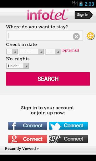 Infotel Hotel Booking App