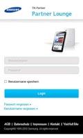 Screenshot of Samsung Partnerbereich