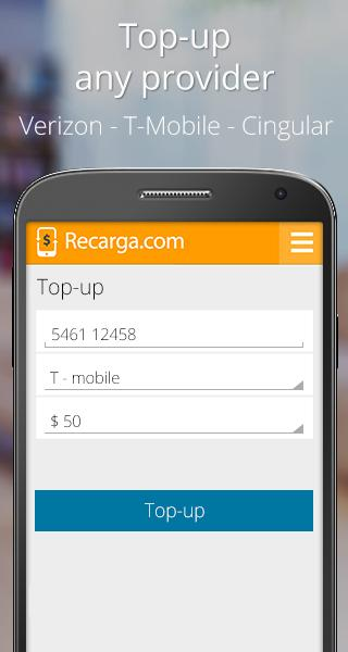 Recarga.com - screenshot
