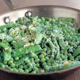 Quick Two-Pea Sauté with Basil and Pecorino