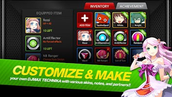 Screenshot of DJMAX TECHNIKA Q