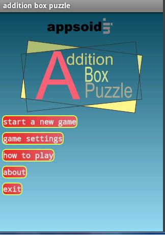 ADDITION BOX PUZZLE