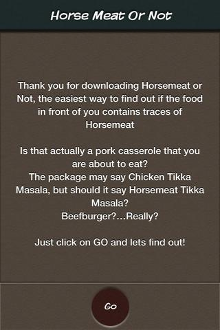 Horse Meat Or Not- screenshot