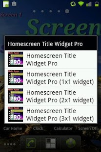 Home Screen Title Widget Pro- screenshot thumbnail