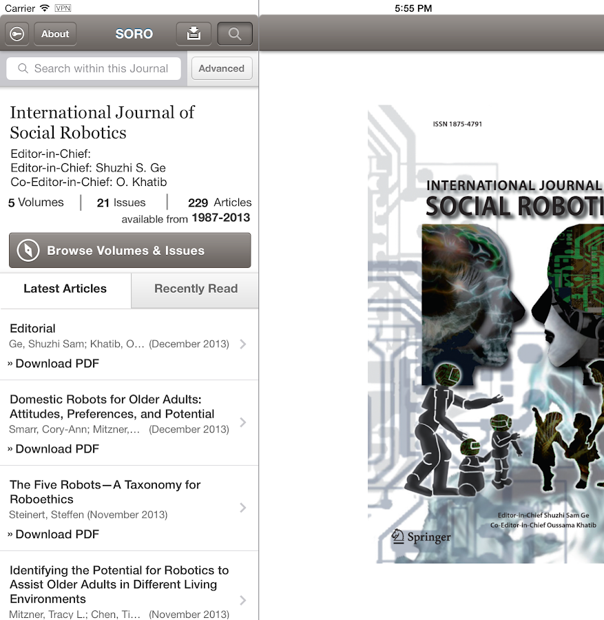 Social Robotics- screenshot
