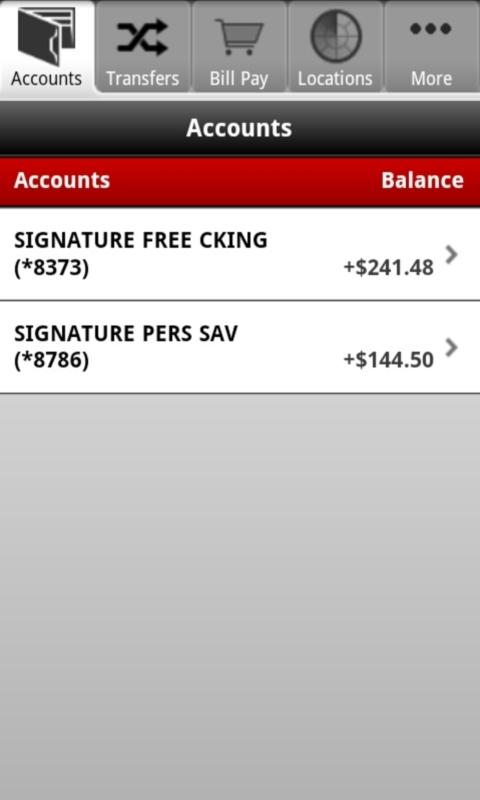 Synovus Mobile Banking - screenshot