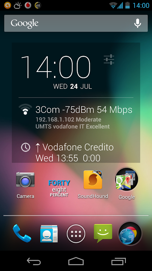 DashClock DashNet extension - screenshot