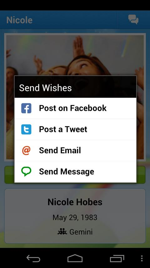 Happy B'day! Birthday Reminder - screenshot
