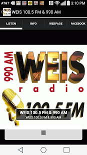 WEIS 100.5 FM & 990 AM- screenshot thumbnail