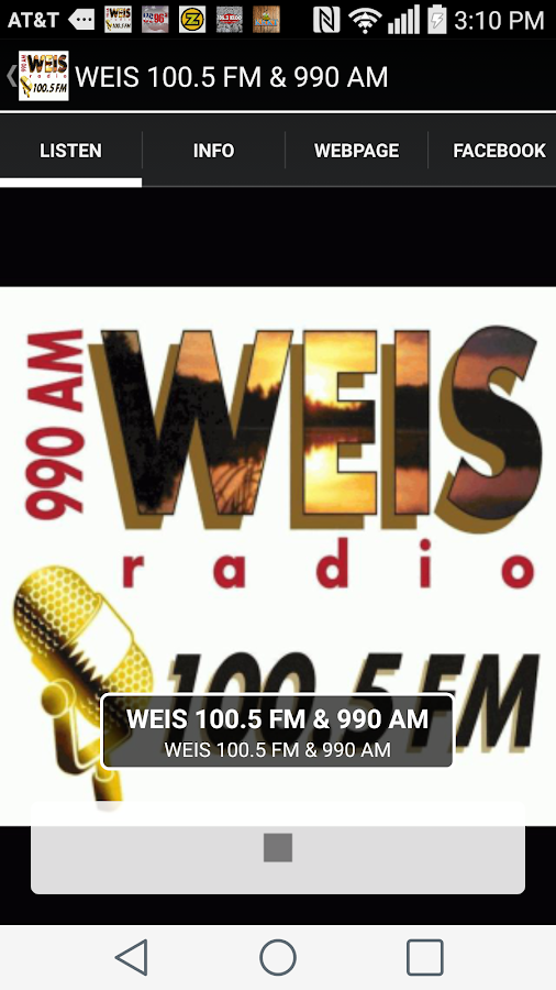 WEIS 100.5 FM & 990 AM- screenshot