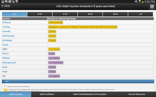 玩免費醫療APP|下載CDC Vaccine Schedules app不用錢|硬是要APP