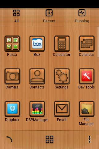 Wood Theme Go Launcher Free - screenshot