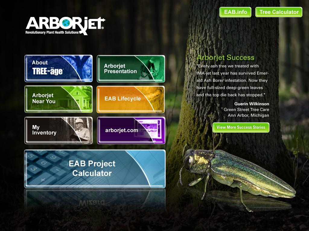 Arborjet- screenshot