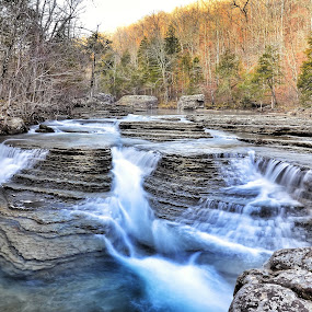 Six Fingers Falls by Jeffrey Genova - Landscapes Waterscapes ( water, waterfall, rivers, arkansas,  )