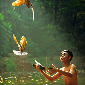 Morning Call by Andreas Sugiarto - Babies & Children Children Candids ( kids in the summer )