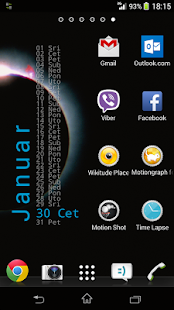 Xperia Calendar Widget- screenshot thumbnail