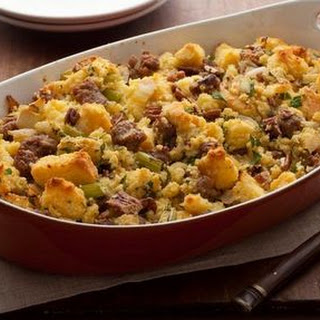 Cornbread Stuffing with Apples and Sausage Recipe