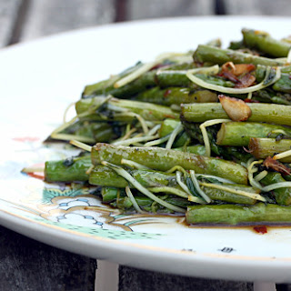 Asparagus and Pea Shoot Stir-Fry