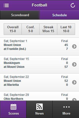 【免費運動App】Mount Union Front Row-APP點子