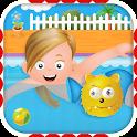 儿童游泳池女孩 icon