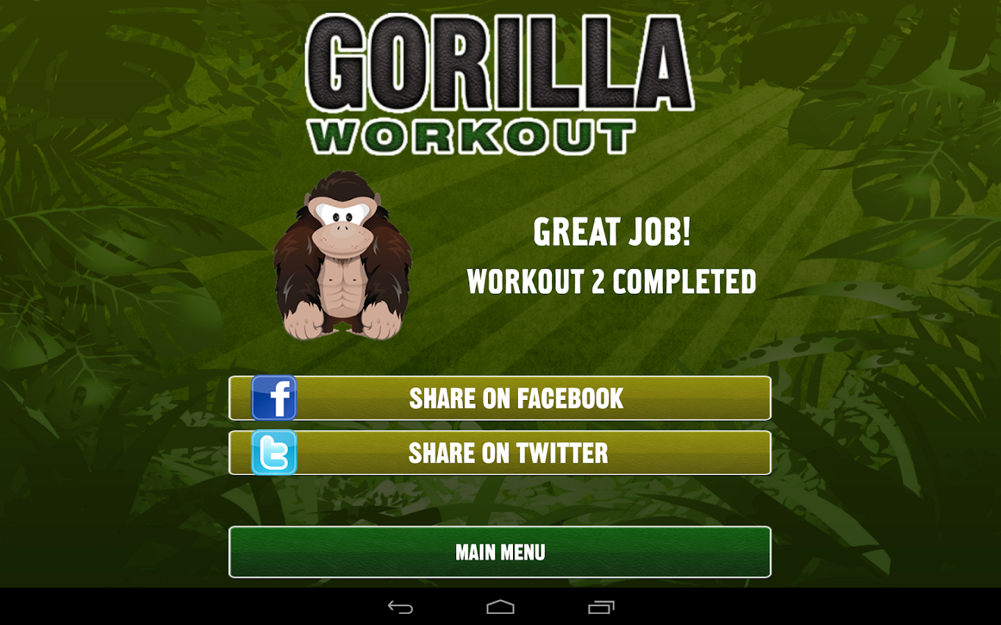 Gorilla Workout: Strength Plan - screenshot