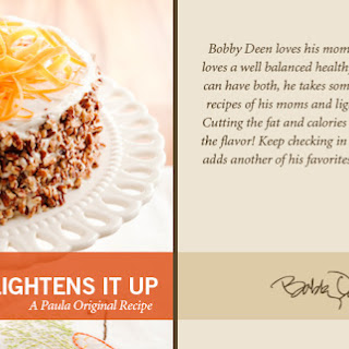 Bobby's Lighter Carrot Cake.