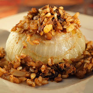 Vidalia Onions Stuffed with Rice-Lentil Pilaf.