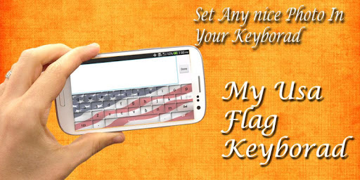 My Photo Keyboard AmericanFlag