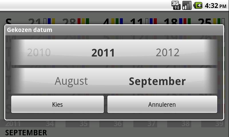 shiftcalendar TATA IJmuiden- screenshot