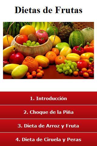 Las dietas de frutas