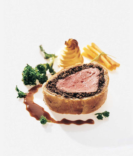 Cunard-Queen-Mary-2-dining-Beef Wellington - Try the tender, expertly prepared Beef Wellington at Queens Grill aboard Queen Mary 2.