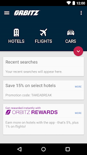Orbitz - Flights, Hotels, Cars - screenshot thumbnail