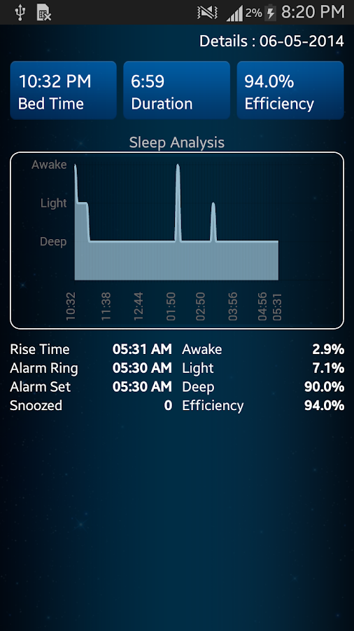 Sleep Analyzer- screenshot