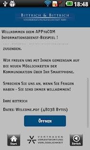 Bittrich Steuerberater App – Miniaturansicht des Screenshots
