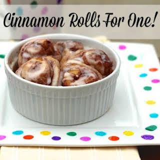 Cinnamon Rolls For One!.