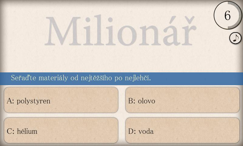 Milionář Free - screenshot