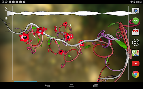 Jungle of Flowers 3D LWP- screenshot thumbnail