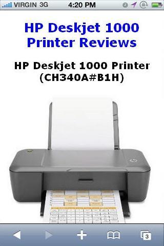 Deskjet 1000 Printer Reviews