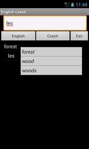 English Czech Dictionary