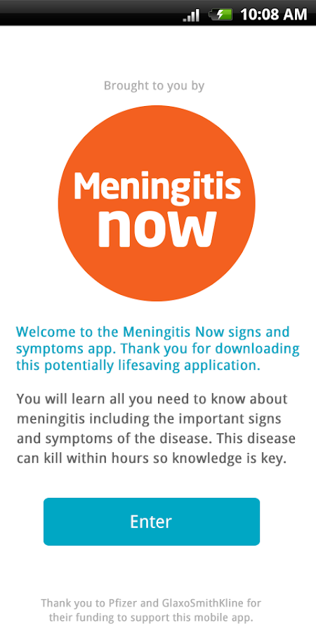 Meningitis signs and symptoms- screenshot