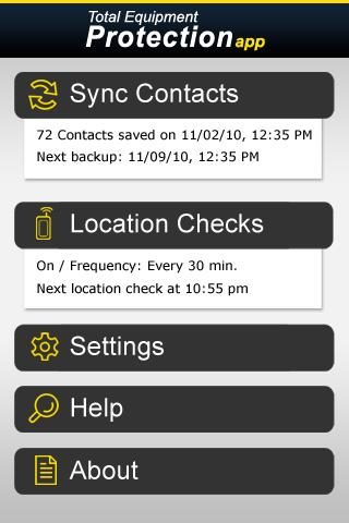 Total Equipment Protection App - screenshot